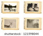 vintage photos retro style | Shutterstock . vector #121598044