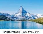Matterhorn With Stellisee Lake...