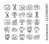 camera icons set  line design | Shutterstock .eps vector #1215983587