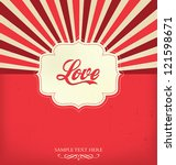 love   valentines design... | Shutterstock .eps vector #121598671