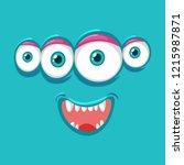 four eyes monsater face...   Shutterstock .eps vector #1215987871