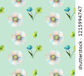 floral seamless pattern made of ... | Shutterstock . vector #1215994747