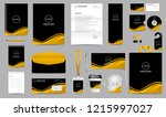 Stock vector corporate identity set stationery blank template design kit branding template editable with 1215997027