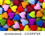 Colorful Heart Candy Backgroun...