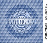 bathing cap blue emblem or...   Shutterstock .eps vector #1216006117