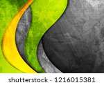 grunge wavy corporate contrast... | Shutterstock .eps vector #1216015381