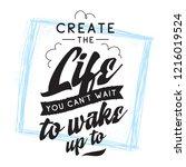 inspirational quote  motivation.... | Shutterstock .eps vector #1216019524