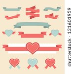 Vintage Labels And Ribbon Retr...