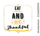 thanksgiving day. logo  text... | Shutterstock .eps vector #1216020454