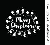 merry christmas. typography.... | Shutterstock .eps vector #1216021951