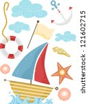 illustration of nautical... | Shutterstock .eps vector #121602715