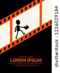 movie and film poster design...   Shutterstock .eps vector #1216029184