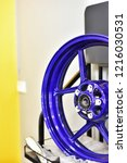 blue alloy placed on display... | Shutterstock . vector #1216030531