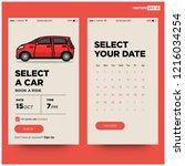 select a car app ux ui design...