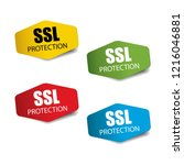 ssl protection  ssl secure | Shutterstock .eps vector #1216046881