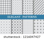 8 different elegant classic... | Shutterstock .eps vector #1216047427