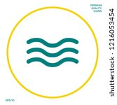 wave icon symbol. graphic... | Shutterstock .eps vector #1216053454