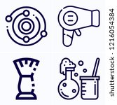 simple set of 4 icons related... | Shutterstock .eps vector #1216054384