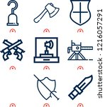 Simple Set Of  9 Outline Icons...