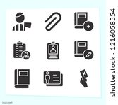 simple set of 9 icons related... | Shutterstock .eps vector #1216058554
