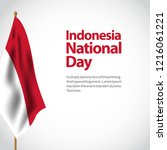Indonesia National Day Vector...