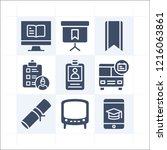 simple set of 9 icons related... | Shutterstock . vector #1216063861