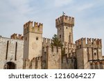 view to the medieval rocca... | Shutterstock . vector #1216064227