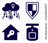 simple set of 4 icons related... | Shutterstock .eps vector #1216064647