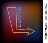 neon inscription motel and... | Shutterstock .eps vector #1216068967