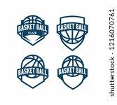 basketball badge logo icon...   Shutterstock .eps vector #1216070761