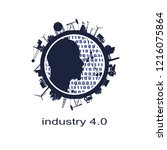 circle with industry relative... | Shutterstock .eps vector #1216075864