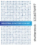 industrial and factory vector... | Shutterstock .eps vector #1216076497