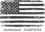 vector grunge american flag... | Shutterstock .eps vector #1216076761