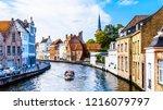 brugge belgium   sept. 18 2018  ... | Shutterstock . vector #1216079797