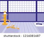 martials arts dojo scene | Shutterstock .eps vector #1216081687