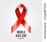 1st december world aids day... | Shutterstock . vector #1216087144