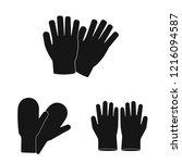 vector illustration of glove... | Shutterstock .eps vector #1216094587