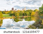 lake reflections in central... | Shutterstock . vector #1216105477
