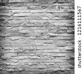 gray brick wall as a background ... | Shutterstock . vector #1216111567