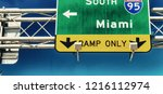 miami interstate sign against... | Shutterstock . vector #1216112974