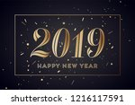 2019. happy new year. greeting... | Shutterstock .eps vector #1216117591