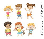collection of some cute... | Shutterstock .eps vector #1216119961