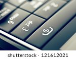 glass phone button close up in... | Shutterstock . vector #121612021