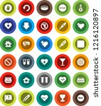 white solid icon set  sieve... | Shutterstock .eps vector #1216120897