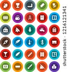 white solid icon set  water tap ... | Shutterstock .eps vector #1216121341