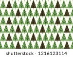 abstract christmas trees... | Shutterstock .eps vector #1216123114