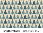 abstract christmas trees... | Shutterstock .eps vector #1216123117