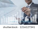 stock market  business analysis ... | Shutterstock . vector #1216127341