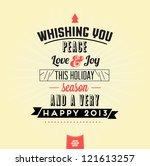retro vintage merry christmas... | Shutterstock .eps vector #121613257
