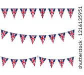union jack bunting mix | Shutterstock .eps vector #1216135951